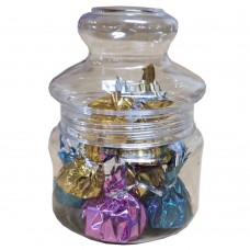 Handmade Homemade Assorted Chocolates in Antique Jar BIG