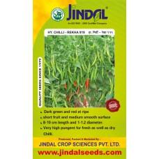 Jindal Chilli Hybrid Seeds(mirch Seeds)-Rekha (919)-10GM